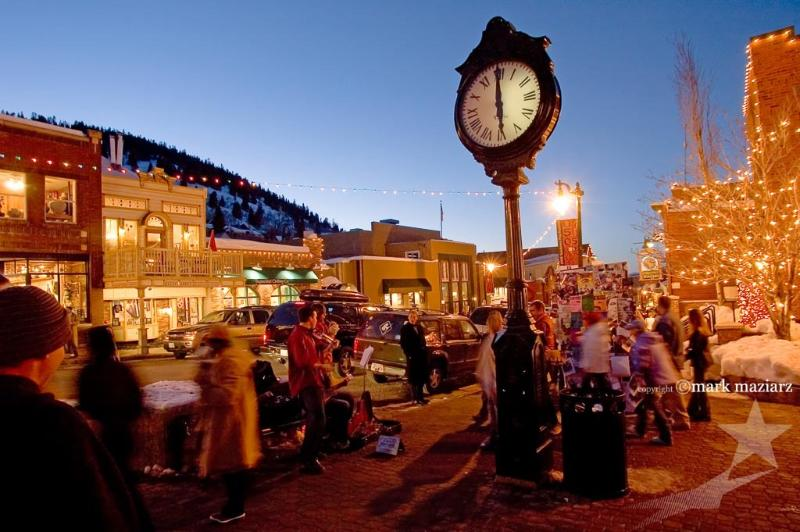 Buskers during the Sundance Film Festival, held every January in Park City.