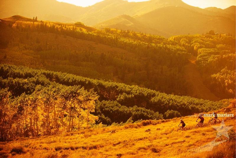 Mountain biking at Deer Valley Resort.