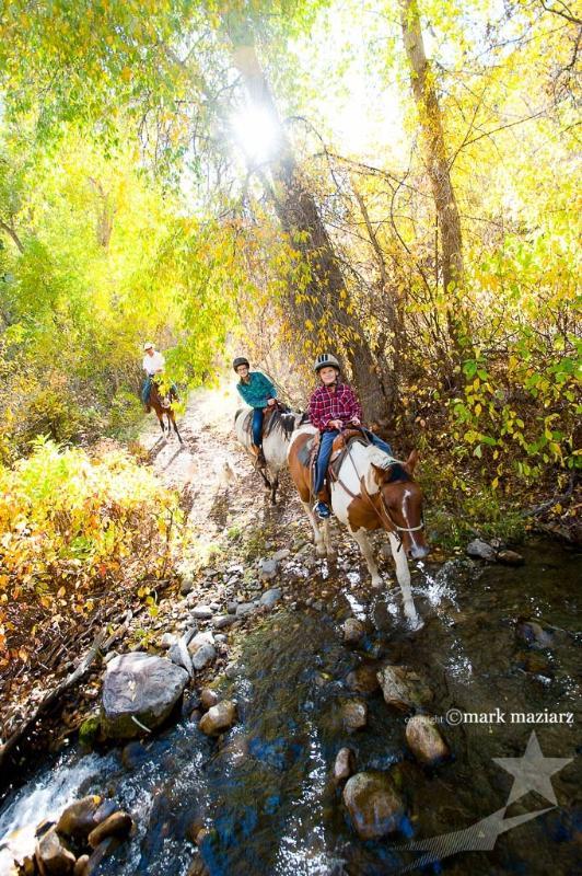Horseback riding at Blue Sky Ranch.