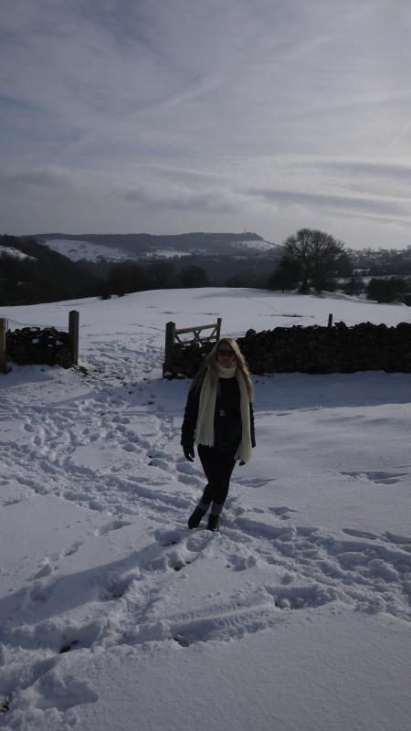 Winter walking towards Winster