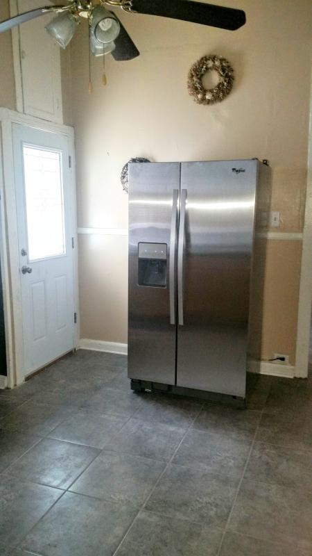 In acciaio inox nuovo frigo e freezer