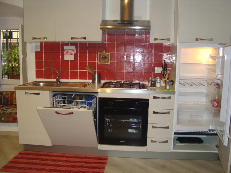 Volledig uitgeruste keuken met vaatwasser