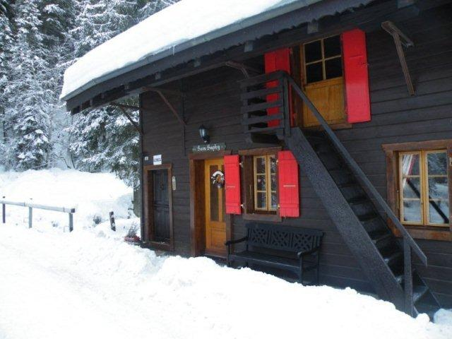 Chalet Sam Suphy Ski in/ski out in village centre 3 bedroom chalet, aluguéis de temporada em Champoussin