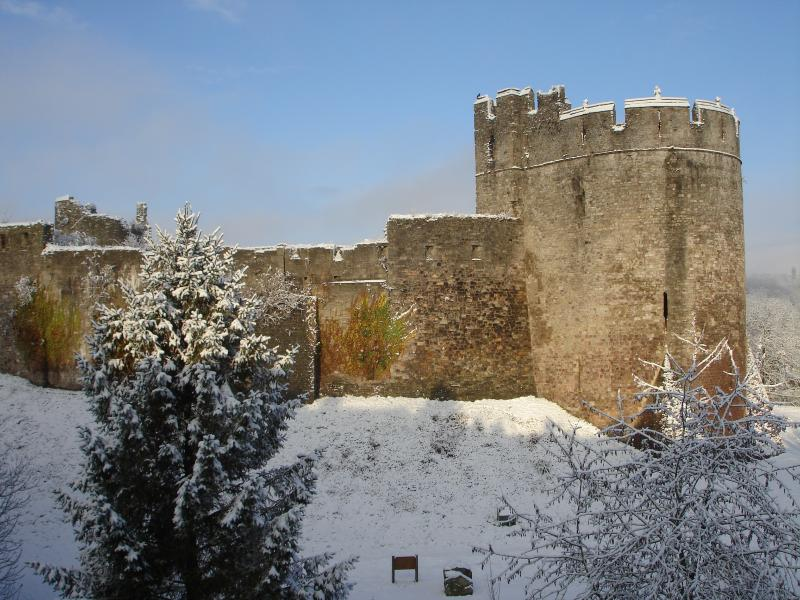 View of Chepstow Castle from our back door