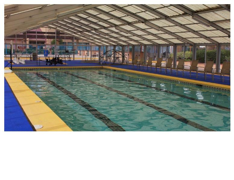 Indoor pool at Green Valley.  Free access for our renters