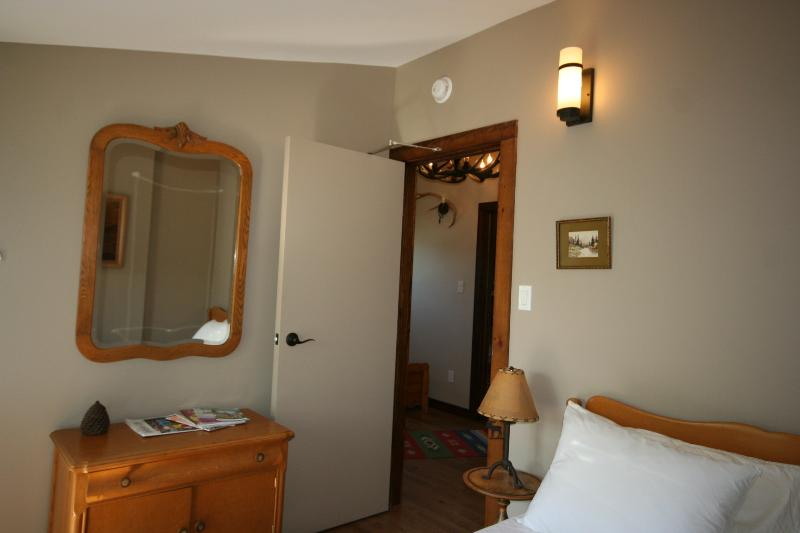Master Bedroom features a walkout to Deck and Double Bed, sleeps 2