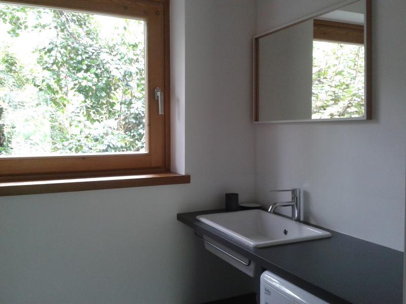 Bagno di servizio con lavandino e WC.
