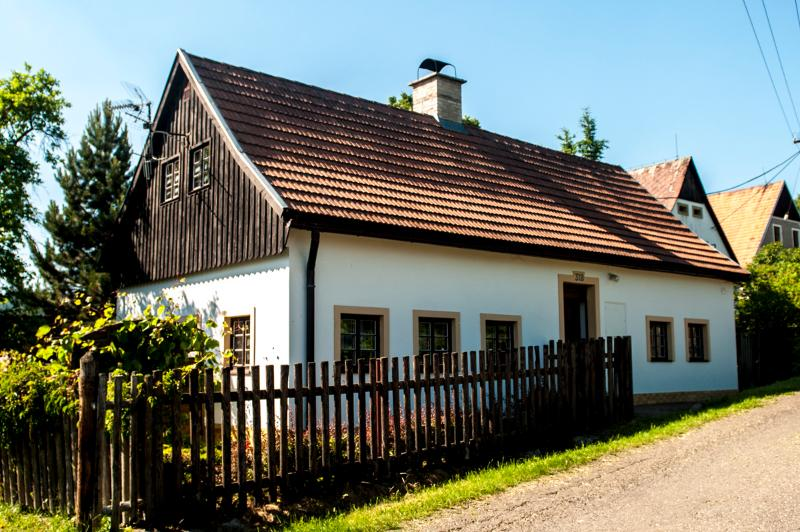 Front view of Barborka's cottage