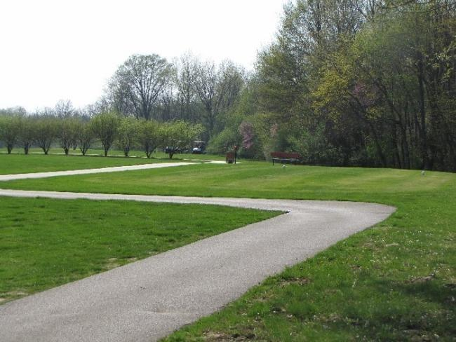 Out the back door is Cardinal Golf Course offering 18 holes, paved paths. This is the 9th tee.