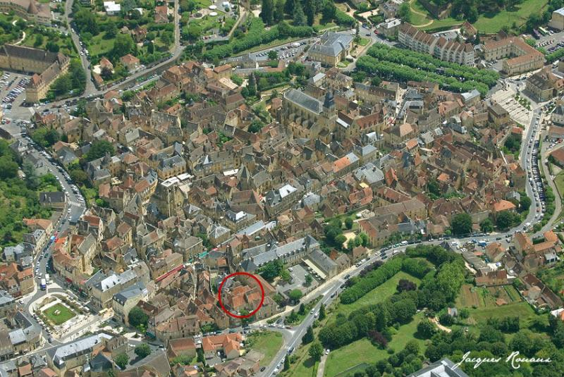 Sarlat (showing location of house)