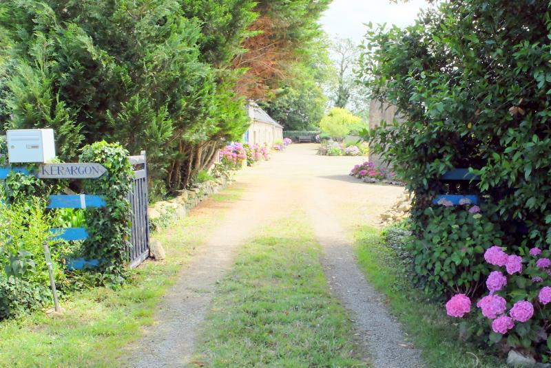 private toegang tot boerderij