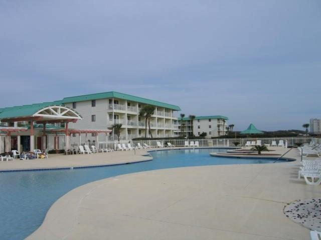 One of the beachfront pools in front of our unit
