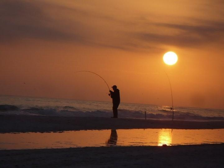 Sunset and great fishing
