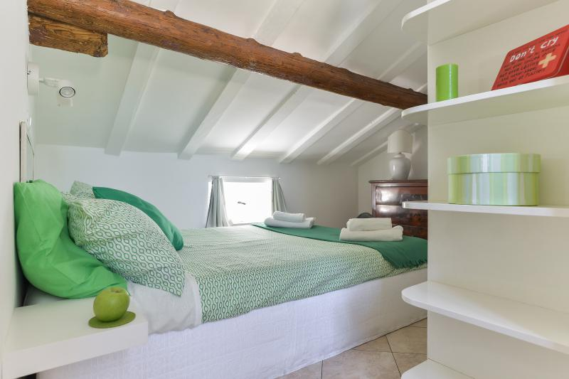 Bed and bookcase