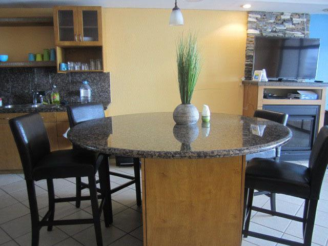 Dining Area -4 Chairs-Additional table with 2 stool available for a total of 6 seating
