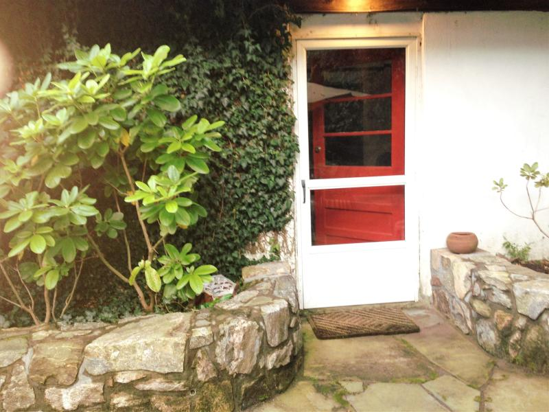 fornt door entrance on the patio