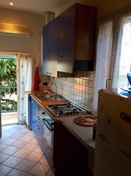 Fully equipped kitchen and balcony