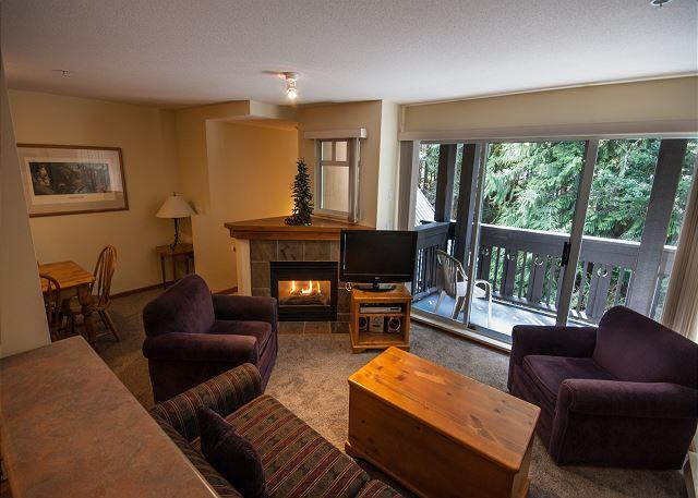 Gas fireplace Whistler vacation rental