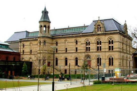 Adelaide Museum on North Terrace; the free bus passes here, Parliament House, Art Gallery and more