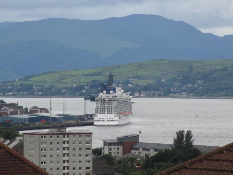 Greenock is a stop-over destination for many cruise ships