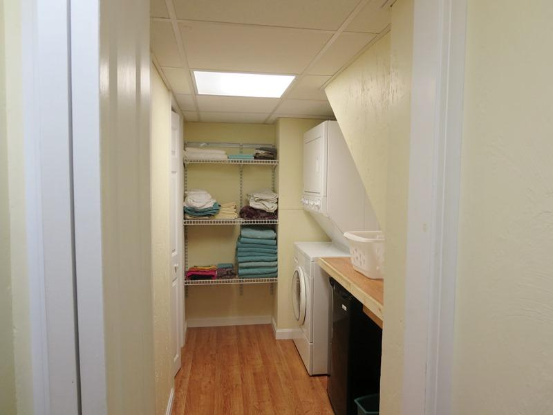 Laundry room on the lower level and a convenient mini fridge to store cool drinks! - 21 Beechwood Road Centerville Cape Cod New England Vacation Rentals