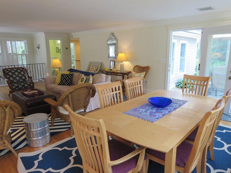 Open dining/living area makes for a very comfortable stay - 21 Beechwood Road Centerville Cape Cod New England Vacation Rentals