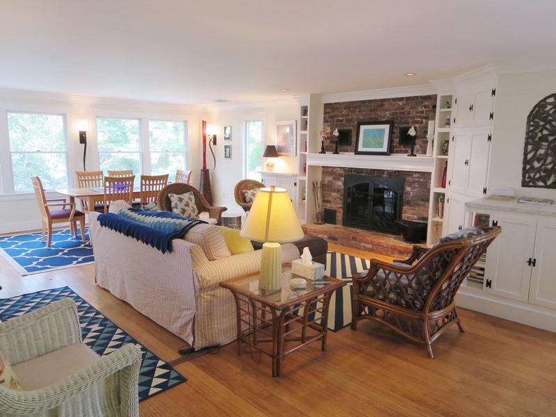 Another view of the living/dining room - 21 Beechwood Road Centerville Cape Cod New England Vacation Rentals