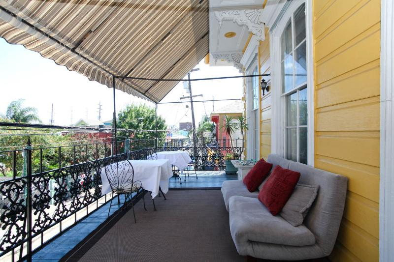You can soak up the many sights and sounds sitting on the balcony.  Great for people watching!