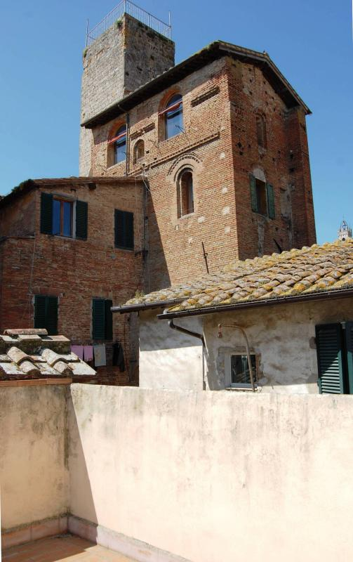 Terrace overlooking the historic center of Siena