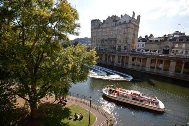 View from kitchen window across Great Pulteney Weir