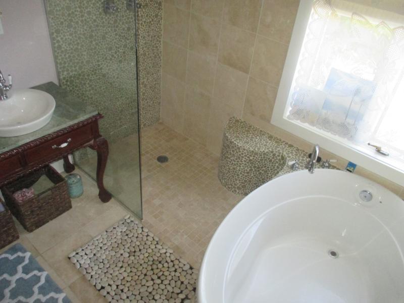 Huge Soaking Tub and step in shower in Downstairs Bathroom so you can Swim like a Mermaid!