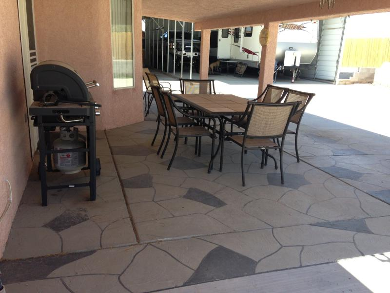 BBQ, Fire Pit, Patio Furniture, Misters,  Back Patio