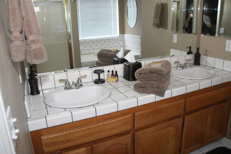 Master Bath w/Jacuzzi size tub