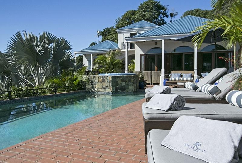 The pool and hot tub