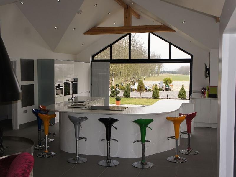 Küche-Aussicht von der lounge