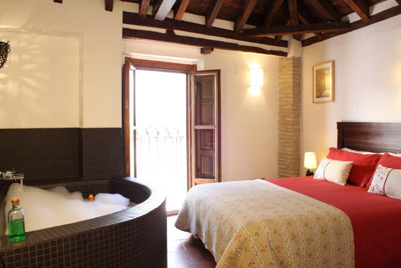master bedroom with Arabic bath