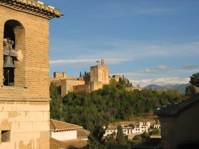 vista de la Alhambra desde la terraza privada