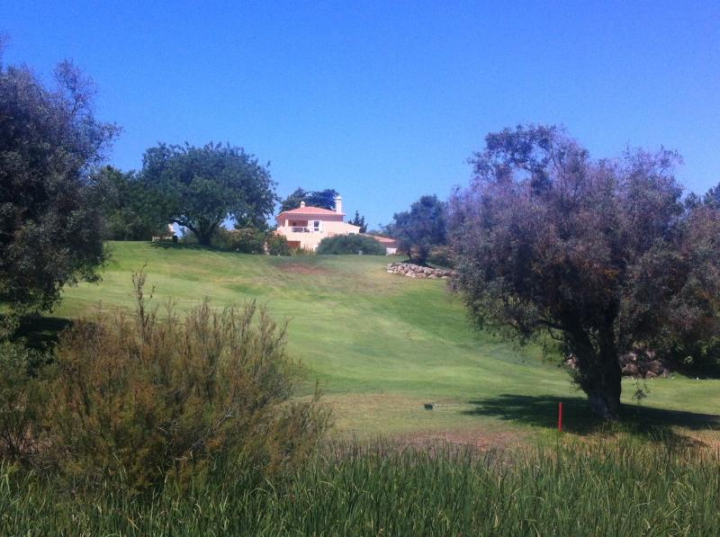The villa from the golf course