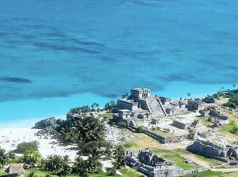 Tulum ruins is an 8 minute drive