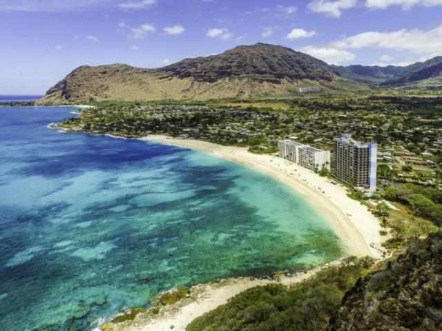 Aerial View of the Hawaiian Princess from the Oceanside