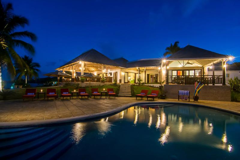On one of the most spectacular sites in the Caribbean is a stunning home on the sea.