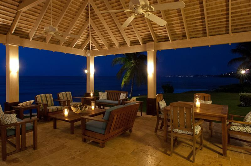... with a romantic view 12 miles east to the town of Montego  Bay .