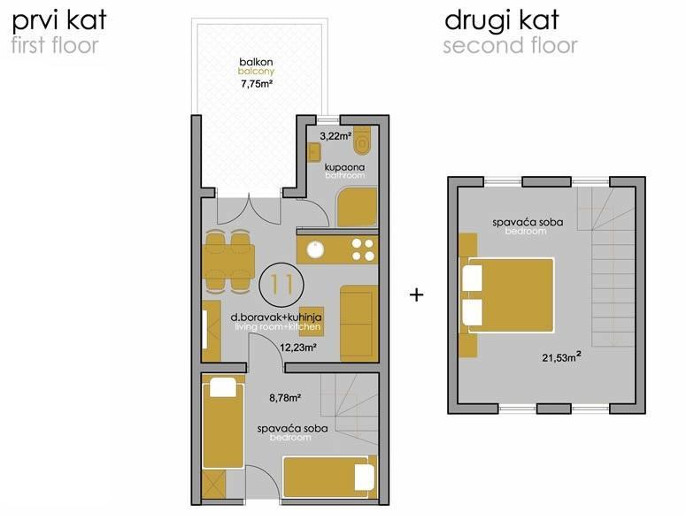 SA5(2+2): floor plan
