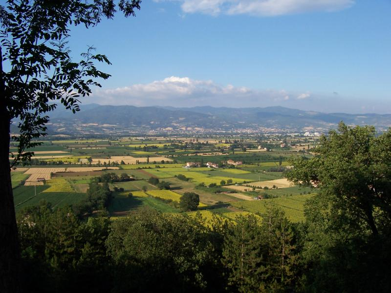 The Tiber Valley view from the Hill of Anghiari