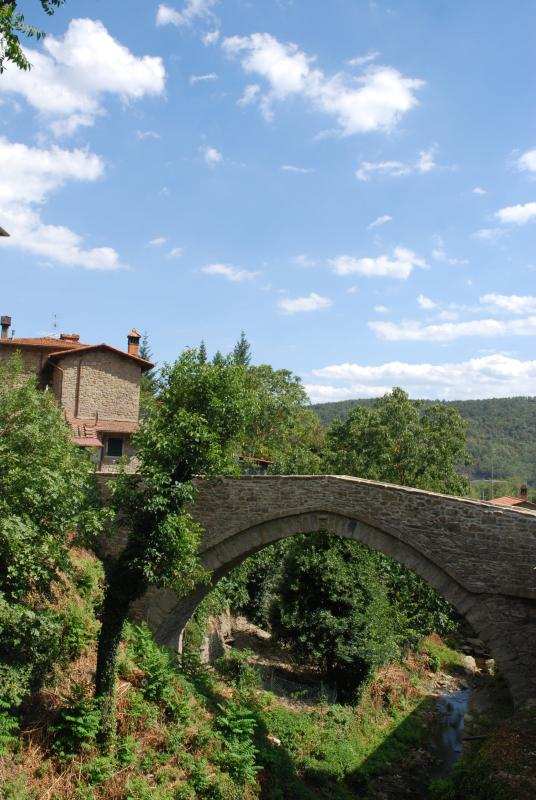 The stone bridge of the frazione Ponte alla Piera