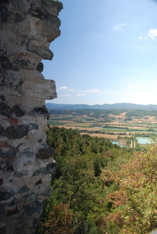 View of the Valley from the ruins of the castello di Montedoglio