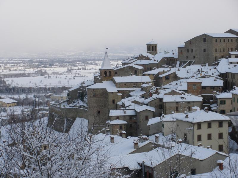 Anghiari in the snow