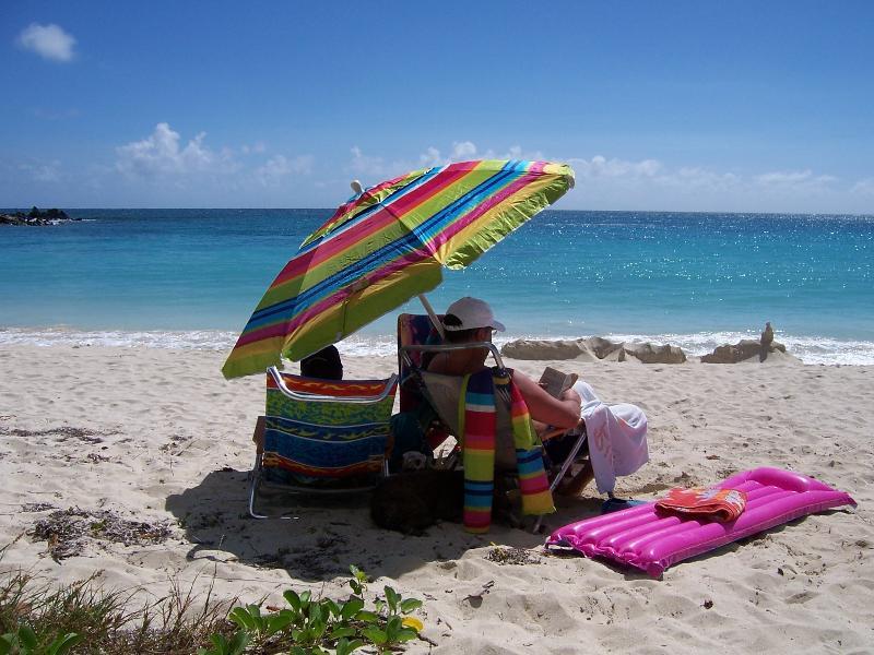 Relax with a book (at Playa Pata Prieta/Secret Beach)