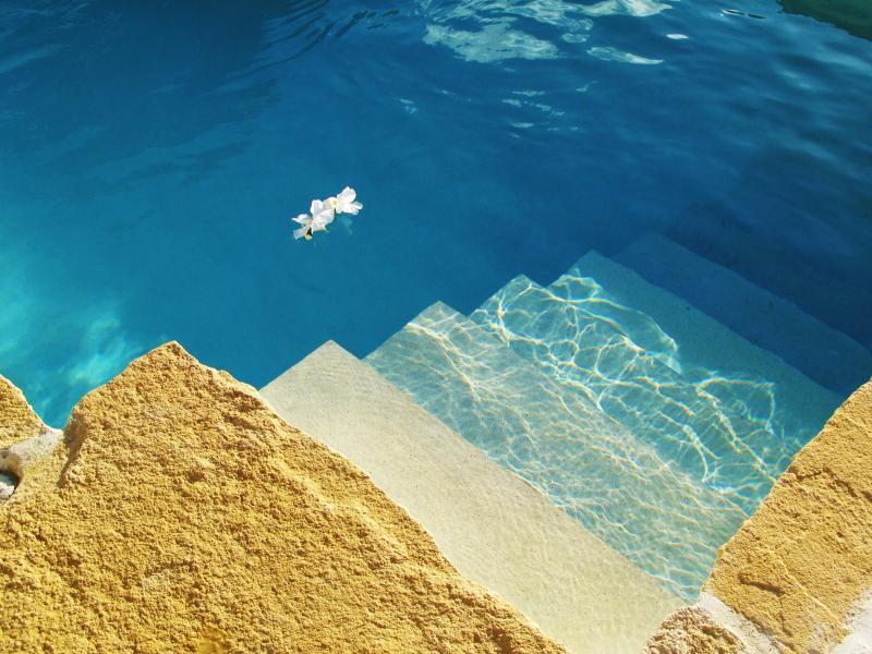 Stone Edged Swimming Pool