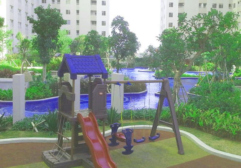 Children playground at the pool resort
